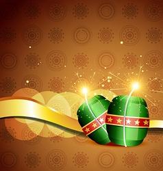 Diwali crackers background vector