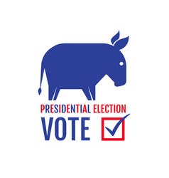 donkey and elephant elections 2020 vector image