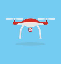 Dron with camera vector
