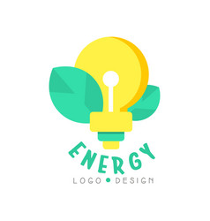 electric light bulb and leaves for vector image