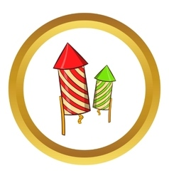 Firecracker icon cartoon style vector