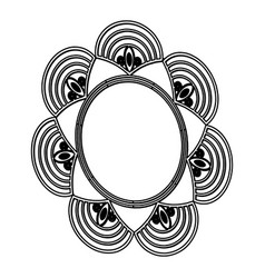Flower decoration abstract beauty decoration black vector
