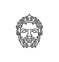 greek god zeus line art logo ancient greek god vector image