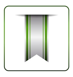Green book mark tag label vector