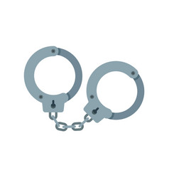 Handcuffs icon flat style vector