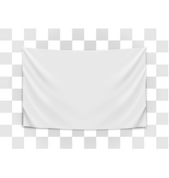 hanging empty white flag blank flag concept vector image