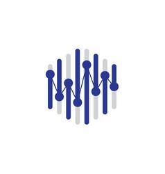 Hexagon tech design vector