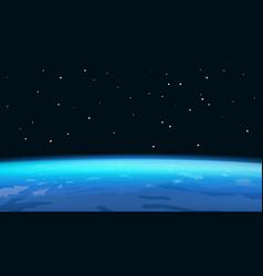Horizon of planet earth vector