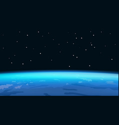 Horizon planet earth vector