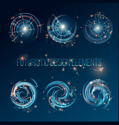 hud futuristic abstract background design elements vector image