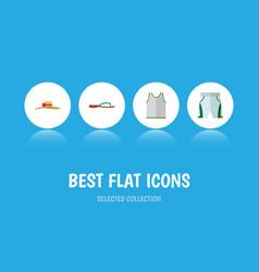 Icon flat clothes set of sleeveless tank shorts vector