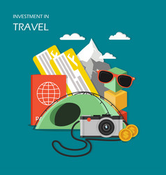 investment in travel concept flat vector image