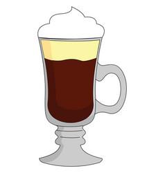 irish coffee on white background vector image