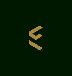 letter e initial symbol logo design vector image