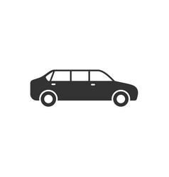 limousine car glyph or vehicle concept vector image