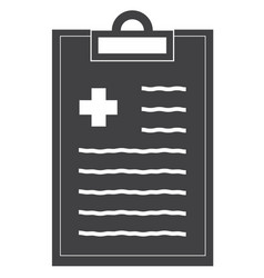 medical record line icon on white background flat vector image