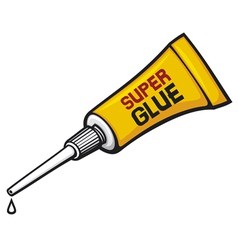 Metal tube super glue vector