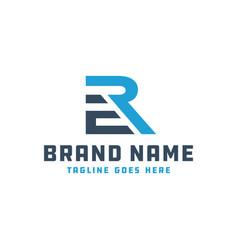 monogram logo letter initials er vector image