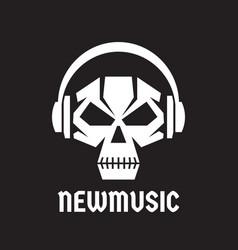 New music - logo template concept vector