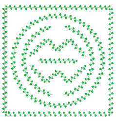 pattern brush from green leaves vector image