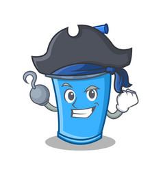 Pirate soda drink character cartoon vector