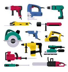 power tools electrical drill and electric vector image
