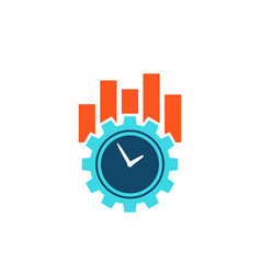 Productivity and efficiency concept icon vector