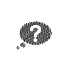 question mark bubble ask why icon graphic vector image