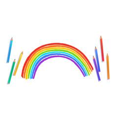 rainbow arc vector image