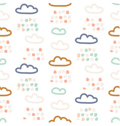 rainy clouds pastel colors seamless pattern vector image