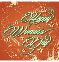 Retro typographic design for Happy Womens Day vector image