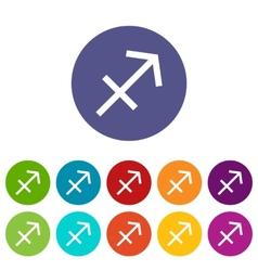 Sagittarius flat icon vector