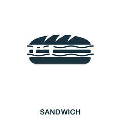 Sandwich icon mobile apps printing and more vector
