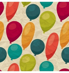 Seamless pattern with balloons on crumpled paper vector