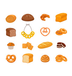 set bakery products vector image