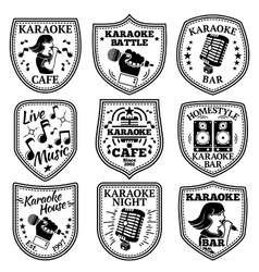 Set of Karaoke labels badges etc vector
