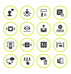 set round icons social network vector image