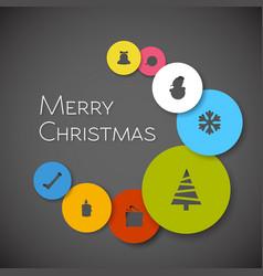 Simple modern minimalistic christmas card vector
