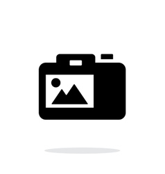 SLR camera simple icon on white background vector image