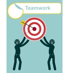 Teamwork Leadership Focus your goal vector