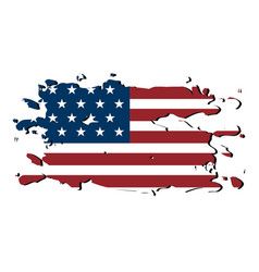 textured flag of united states vector image