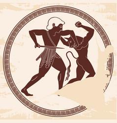Theseus kills minotaur vector