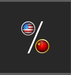 trade war usa and china political vector image