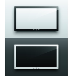 TV screen hanging vector image