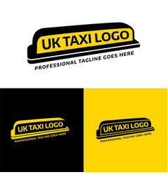 Uk taxi sign and logo vector