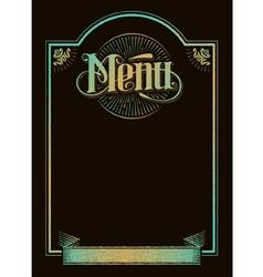 vintage chalkboard menu banner calligraphy design vector image