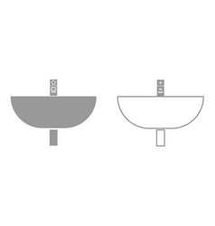 wash basin it is black icon vector image