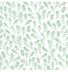 wild leaves seamless floral endless pattern vector image