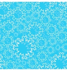 Winter seamless pattern - outline snowflakes on a vector image