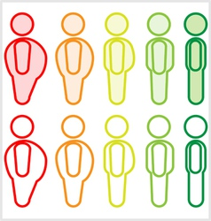Fat to skinny figures vector image vector image